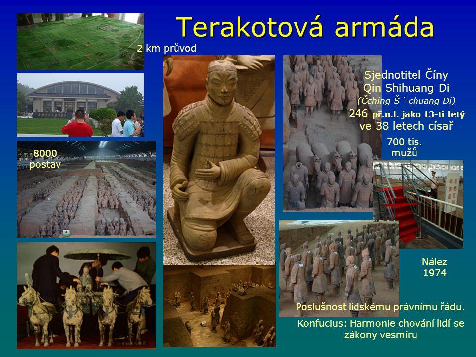 Terakotová armáda 2 km průvod.