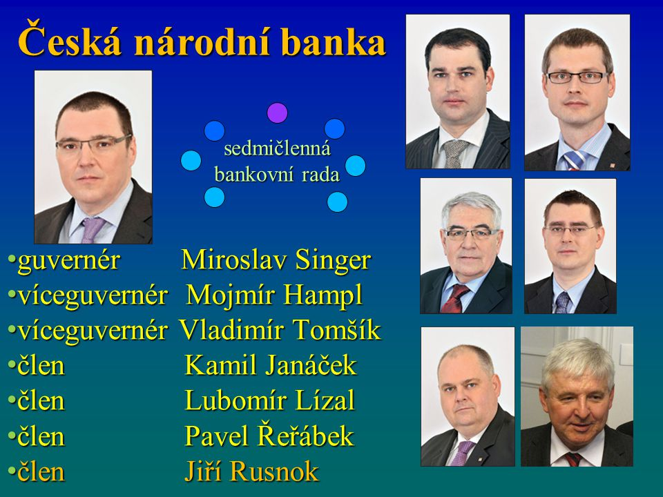 sedmičlenná bankovní rada