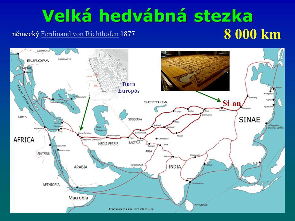 Velká hedvábná stezka 8 000 km Si-an