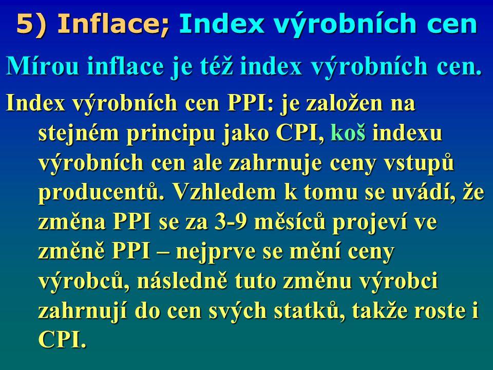 5) Inflace; Index výrobních cen