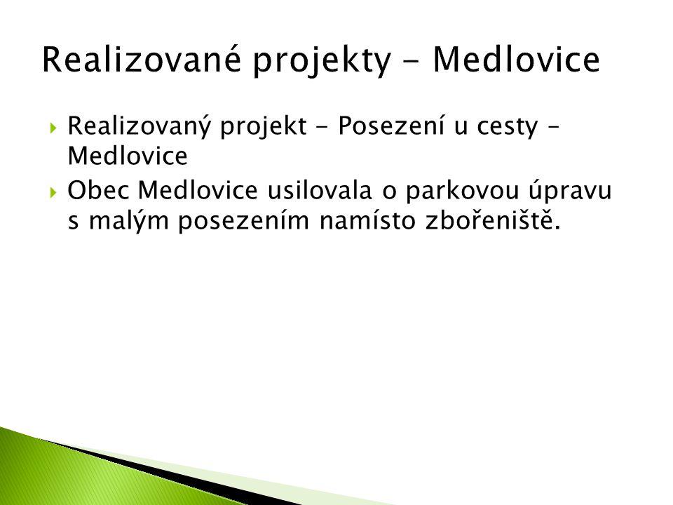 Realizované projekty - Medlovice