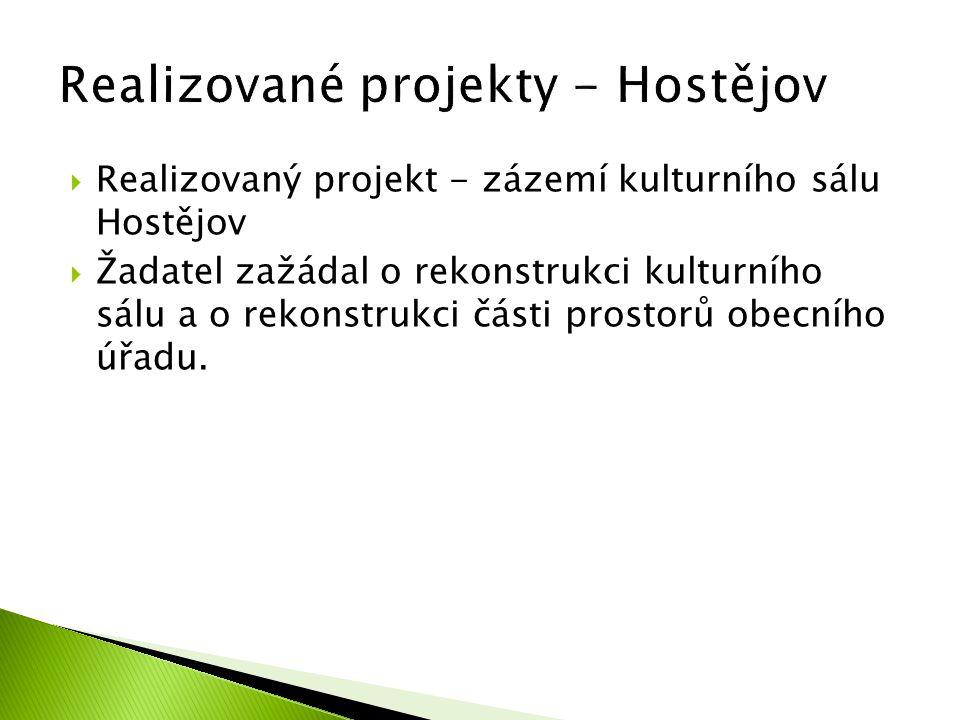 Realizované projekty - Hostějov