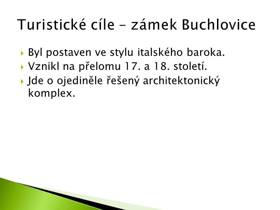 Turistické cíle – zámek Buchlovice