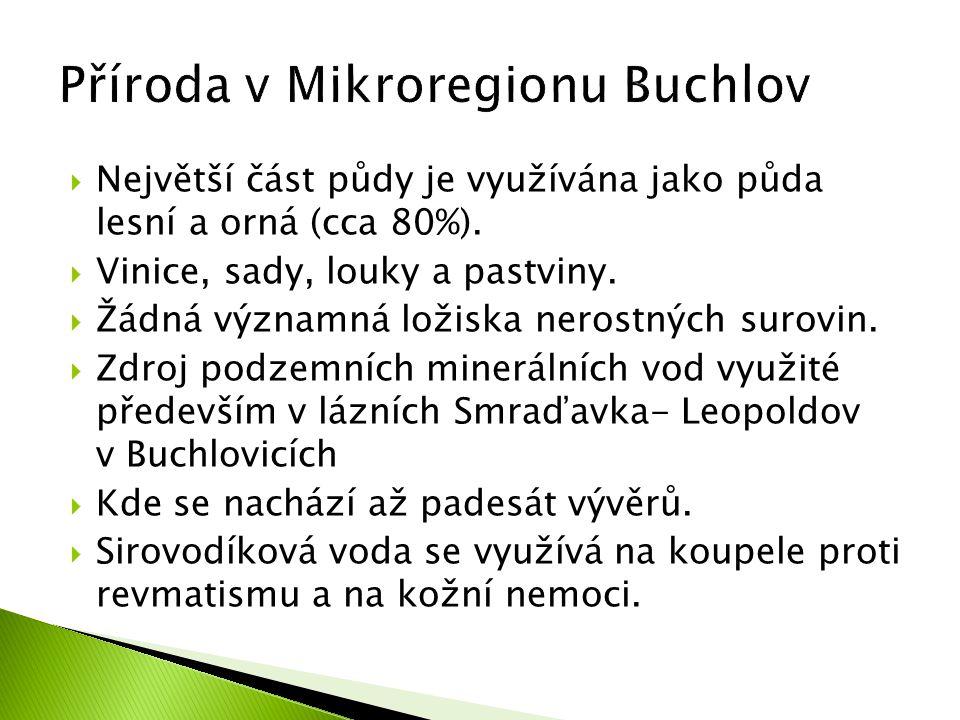 Příroda v Mikroregionu Buchlov