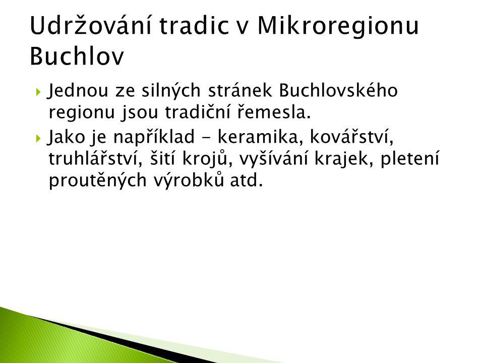 Udržování tradic v Mikroregionu Buchlov