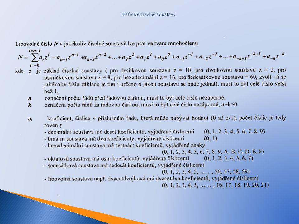 Definice číselné soustavy