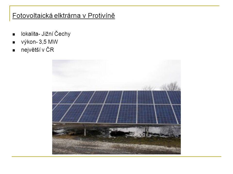 Fotovoltaická elktrárna v Protivíně