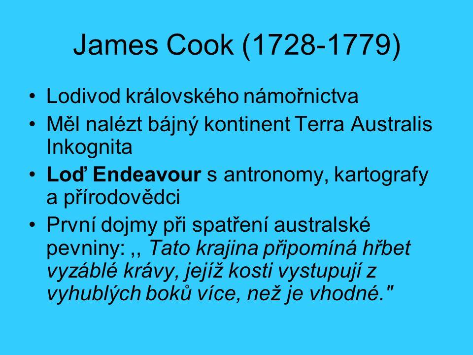 James Cook (1728-1779) Lodivod královského námořnictva