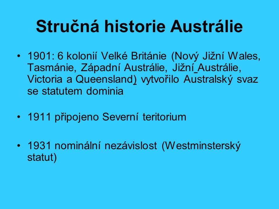 Stručná historie Austrálie