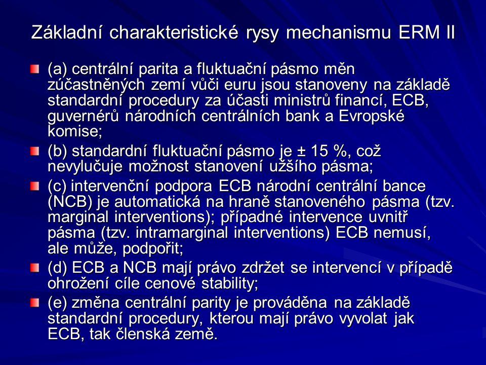 Základní charakteristické rysy mechanismu ERM II