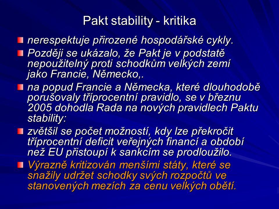Pakt stability - kritika