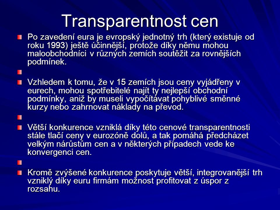 Transparentnost cen