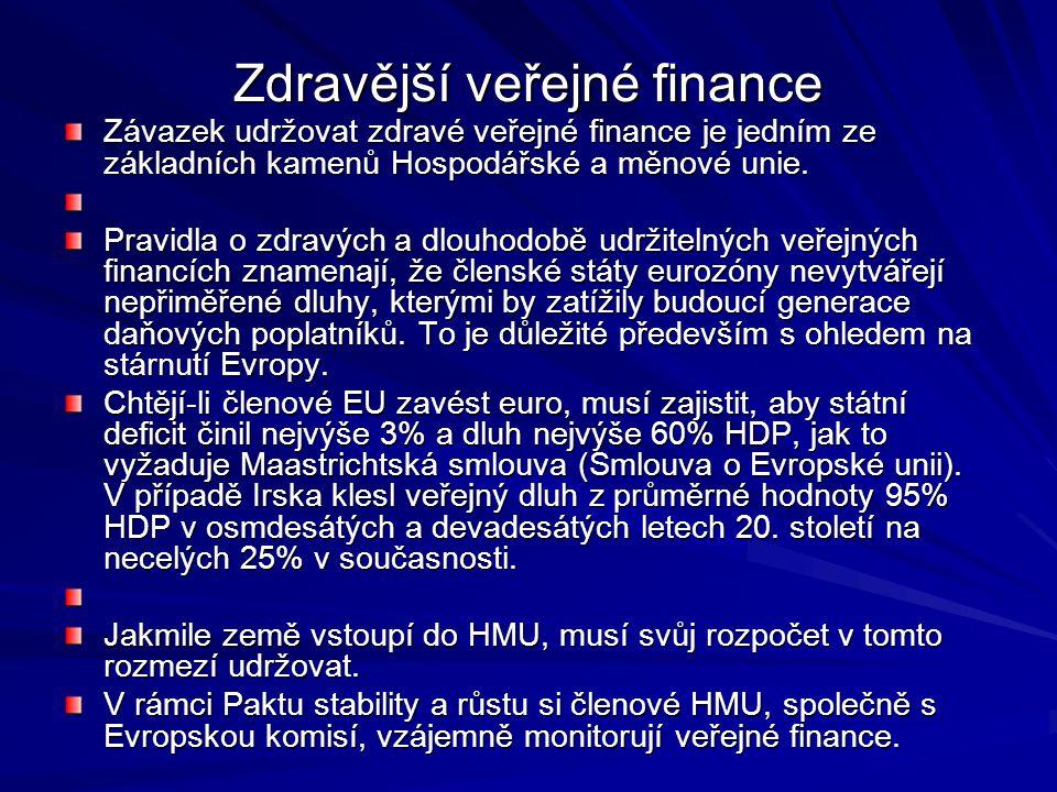 Zdravější veřejné finance
