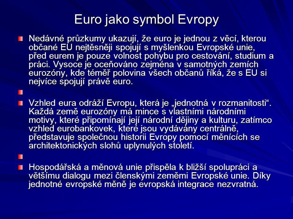Euro jako symbol Evropy