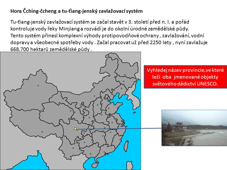 Hora Čching-čcheng a tu-ťiang-jenský zavlažovací systém
