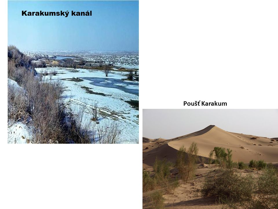 Karakumský kanál Poušť Karakum