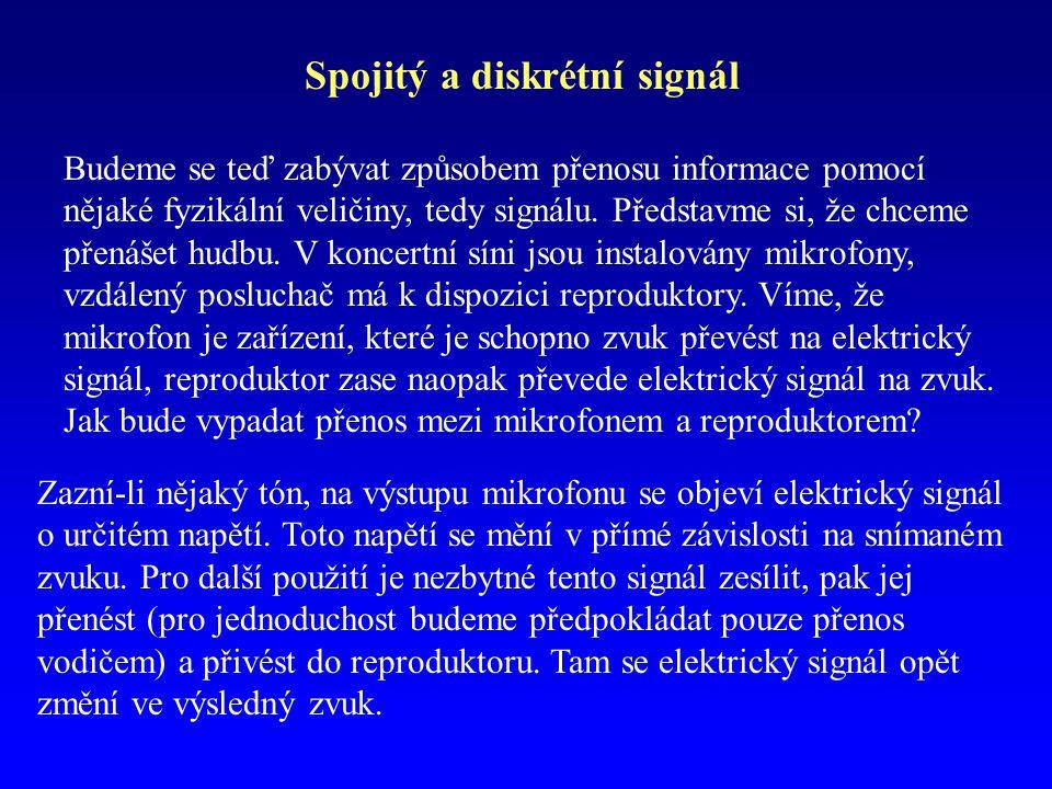 Spojitý a diskrétní signál