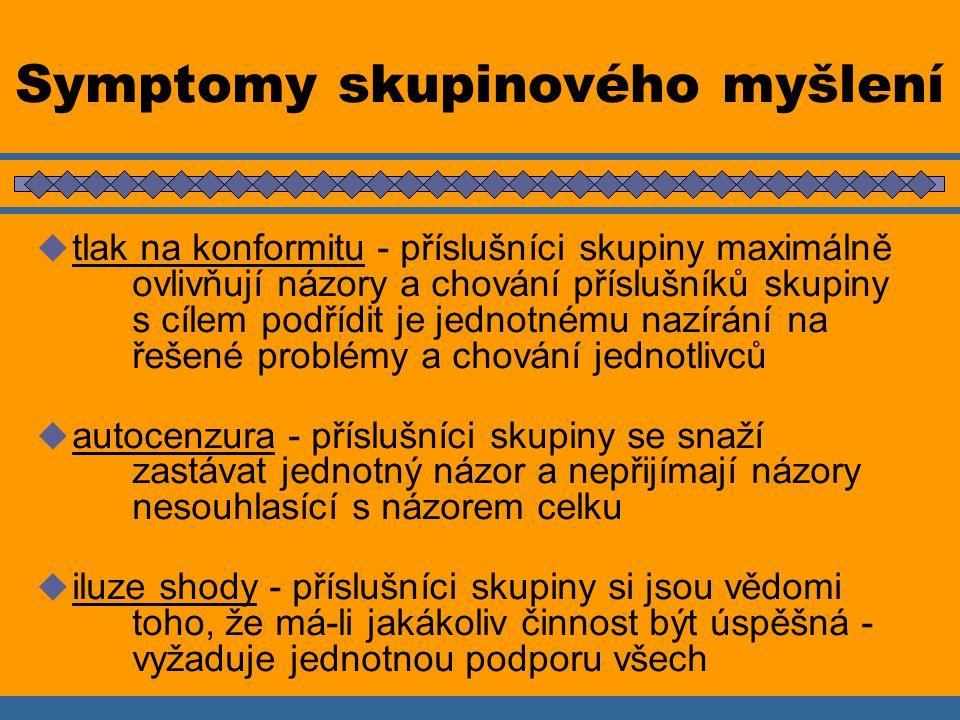 Symptomy skupinového myšlení