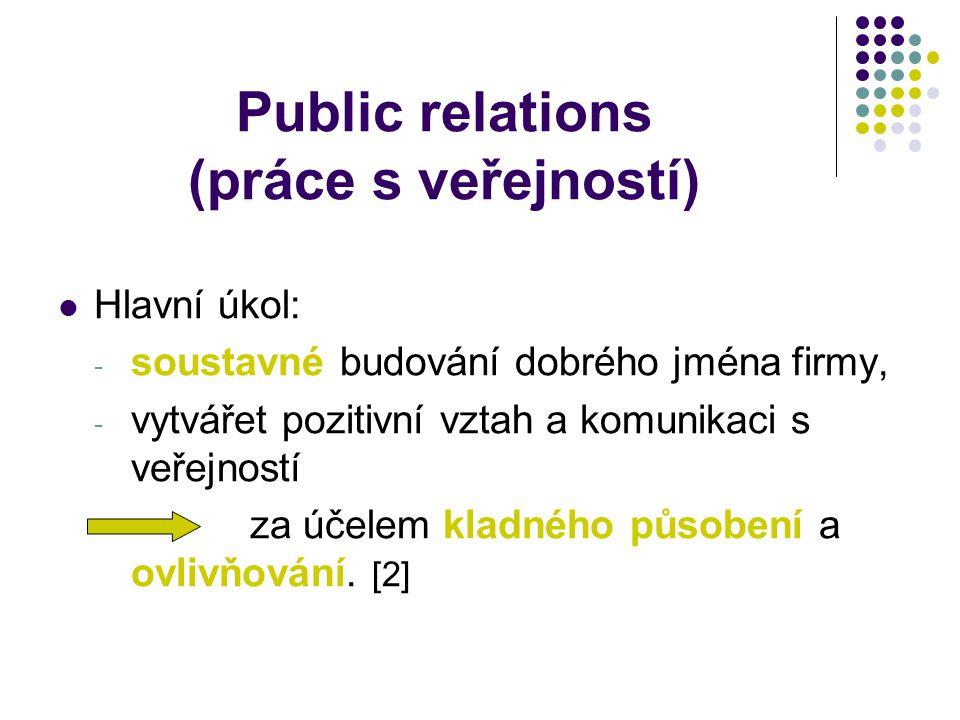 Public relations (práce s veřejností)