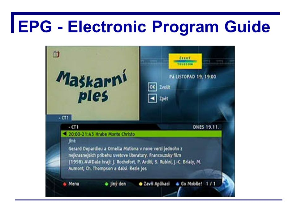 EPG - Electronic Program Guide