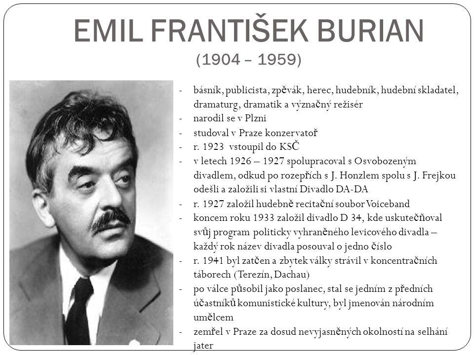 EMIL FRANTIŠEK BURIAN (1904 – 1959)
