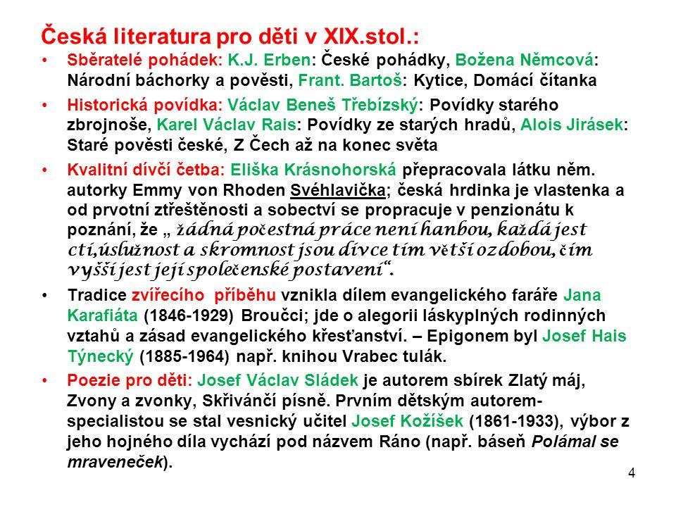 Česká literatura pro děti v XIX.stol.: