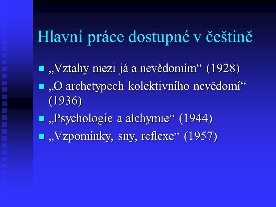 Hlavní práce dostupné v češtině