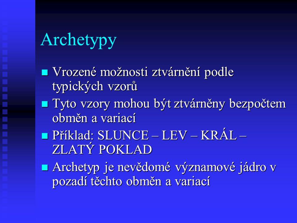 Archetypy Vrozené možnosti ztvárnění podle typických vzorů