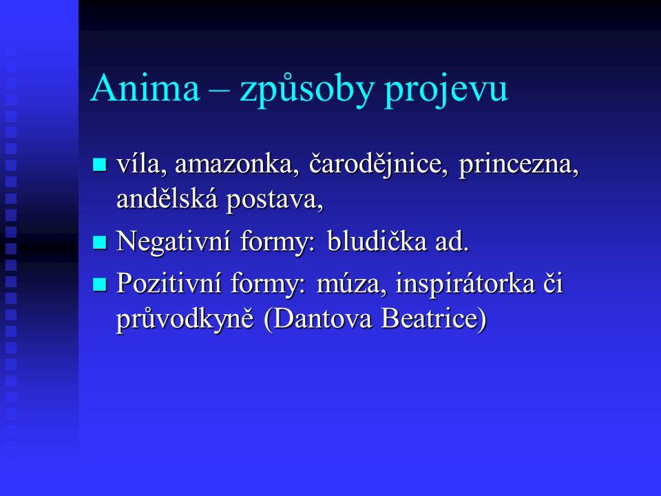 Anima – způsoby projevu