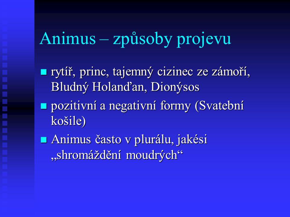 Animus – způsoby projevu