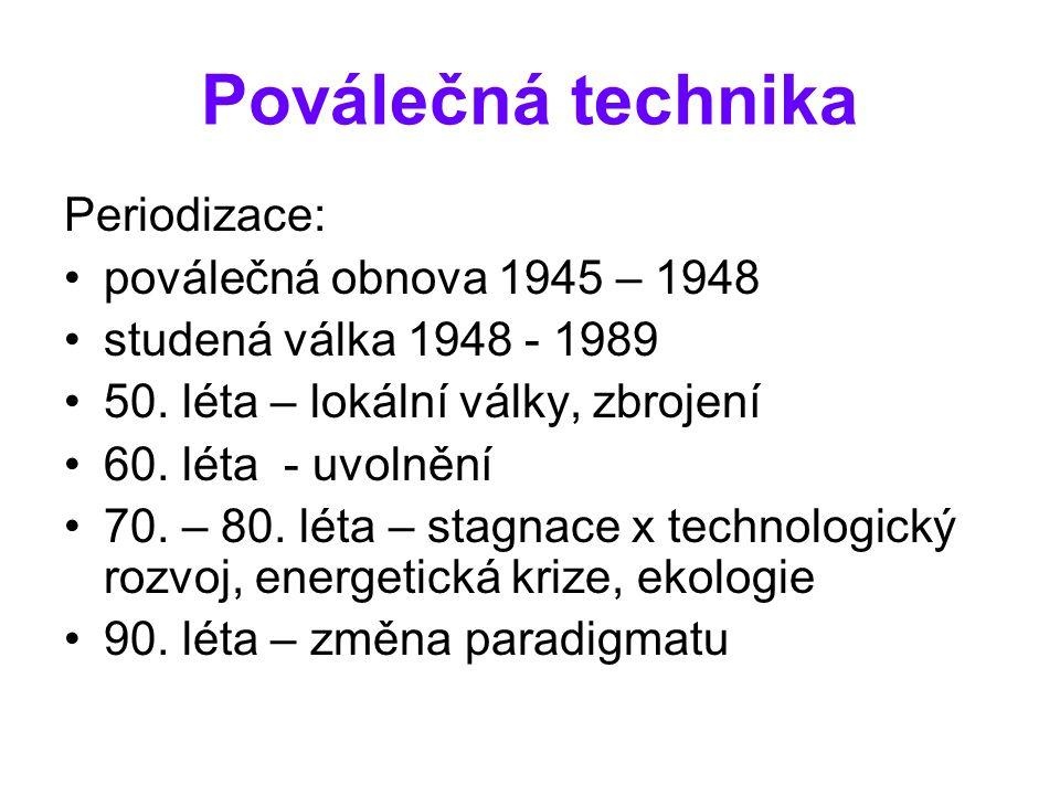 Poválečná technika Periodizace: poválečná obnova 1945 – 1948