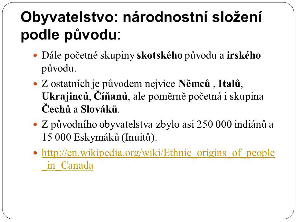 Obyvatelstvo: národnostní složení podle původu: