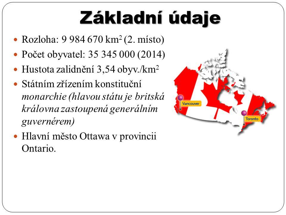 Základní údaje Rozloha: 9 984 670 km2 (2. místo)
