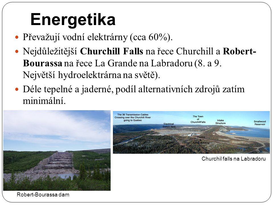 Energetika Převažují vodní elektrárny (cca 60%).