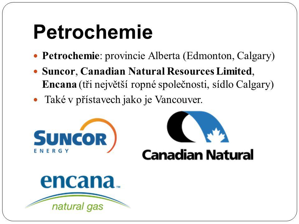 Petrochemie Petrochemie: provincie Alberta (Edmonton, Calgary)