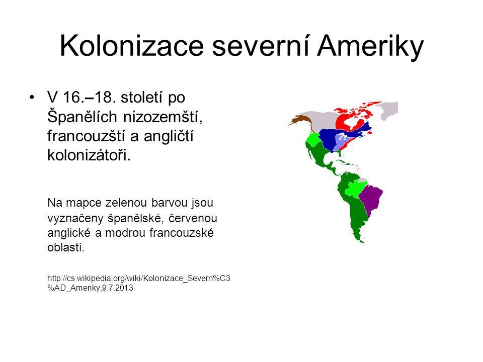 Kolonizace severní Ameriky