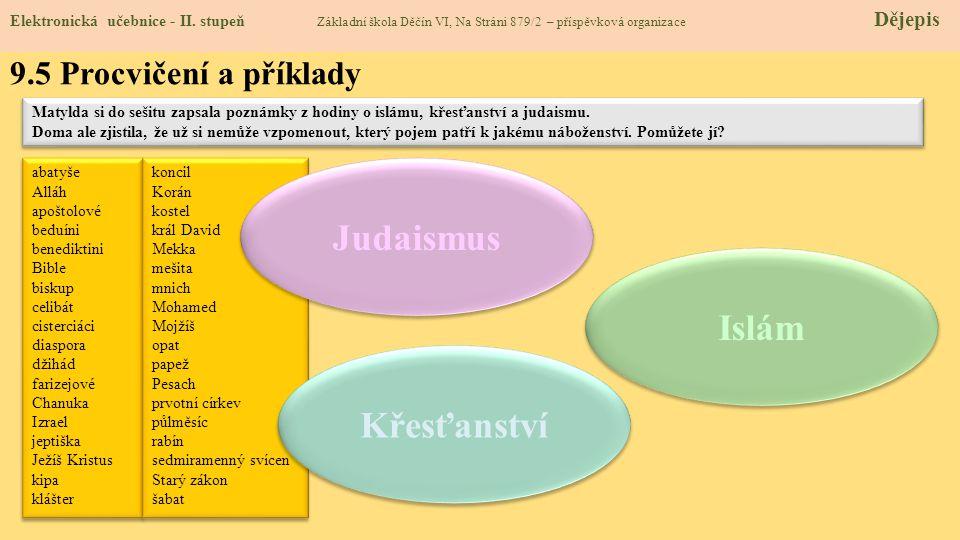 Judaismus Islám Křesťanství