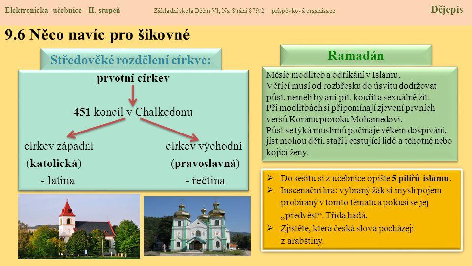 Středověké rozdělení církve: