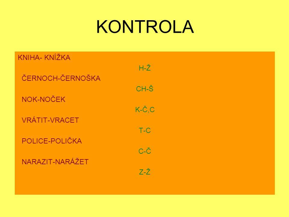 KONTROLA KNIHA- KNÍŽKA H-Ž ČERNOCH-ČERNOŠKA CH-Š NOK-NOČEK K-Č,C