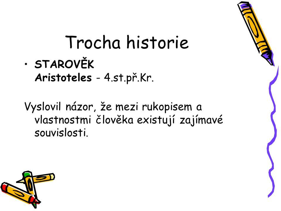 Trocha historie STAROVĚK Aristoteles - 4.st.př.Kr.