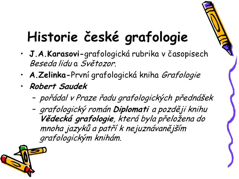 Historie české grafologie