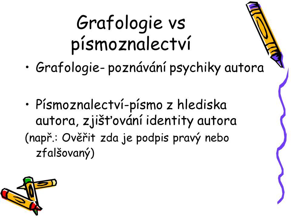 Grafologie vs písmoznalectví