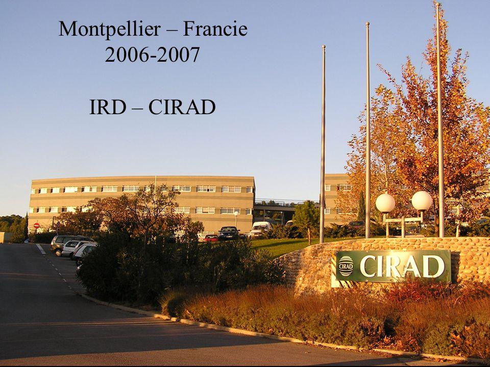 Montpellier – Francie 2006-2007 IRD – CIRAD