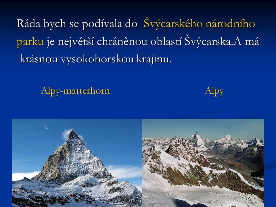 Ráda bych se podívala do Švýcarského národního