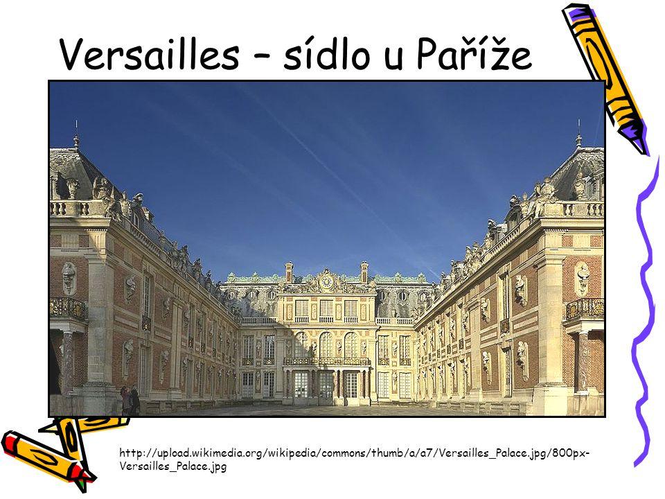Versailles – sídlo u Paříže