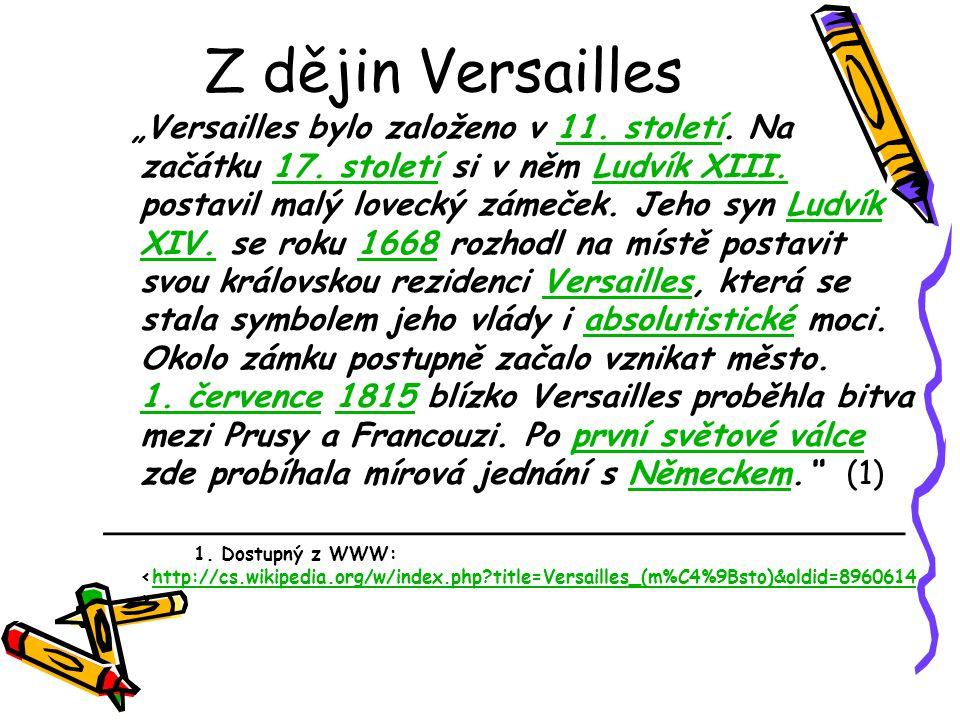 Z dějin Versailles