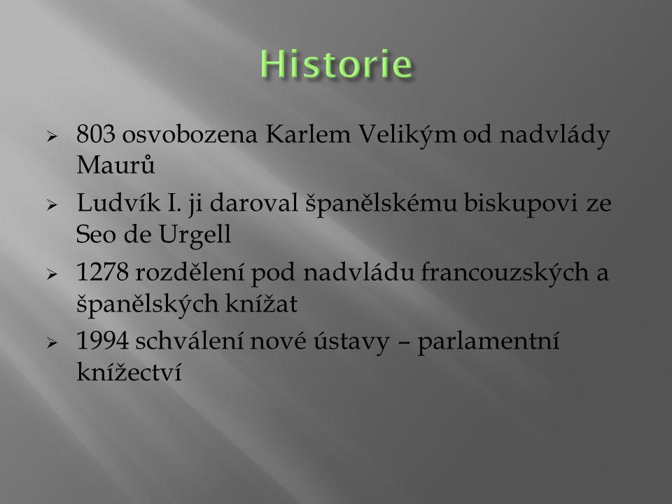 Historie 803 osvobozena Karlem Velikým od nadvlády Maurů