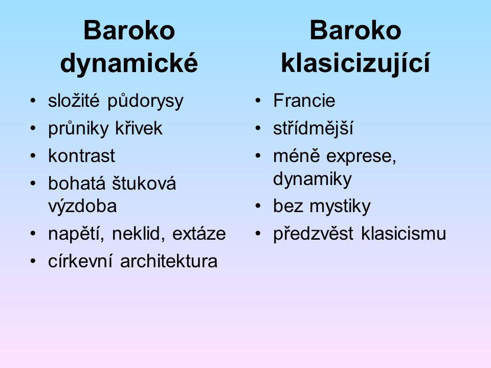 Baroko klasicizující Baroko dynamické