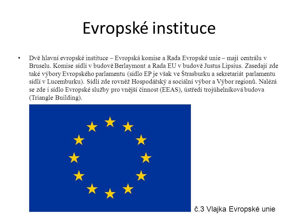 Evropské instituce č.3 Vlajka Evropské unie