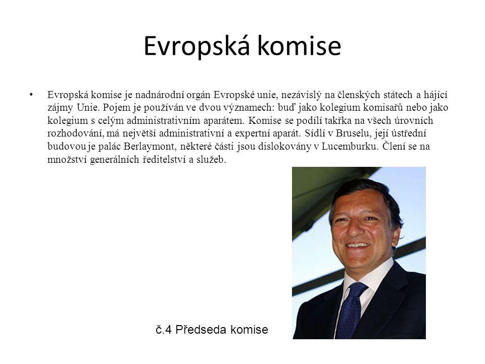 Evropská komise č.4 Předseda komise